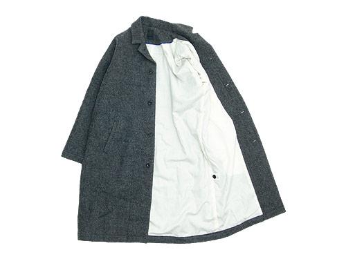 maillot shetland wool gown coat