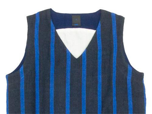 maillot linen wool pull vest STRIPE