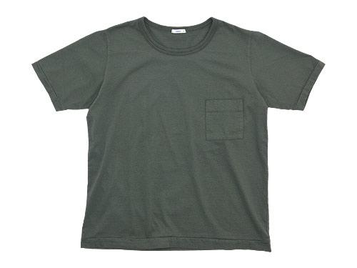 maillot super cotton pocket Tee / ライトボーダー半袖Tシャツ