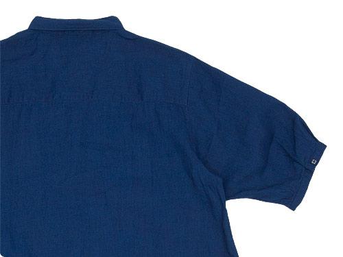 maillot mature indigo linen one-piece
