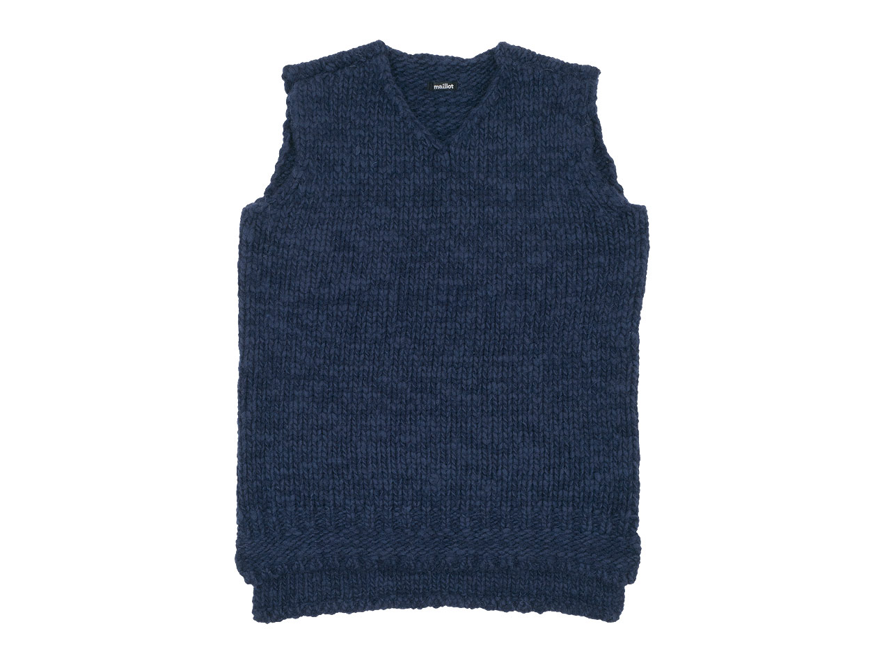 maillot mature hand frame vest / fisherman sweater