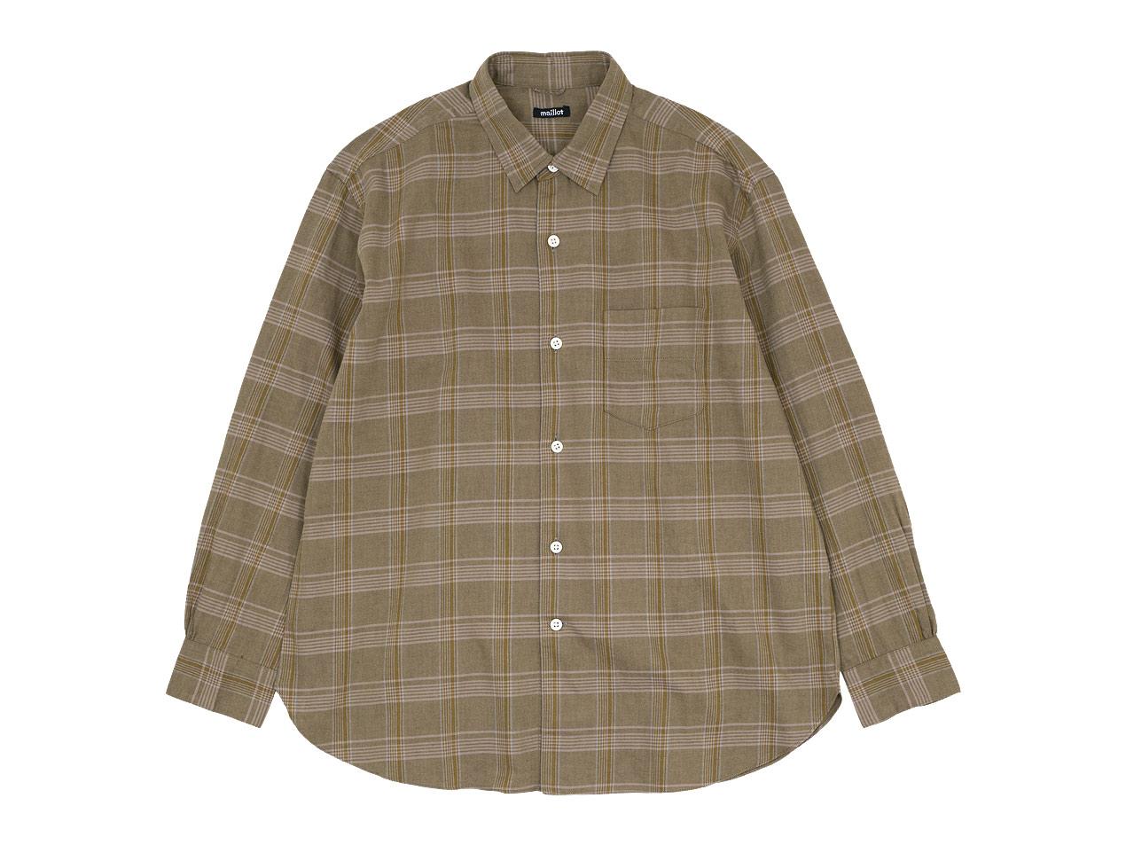 maillot mature twill check regular shirts