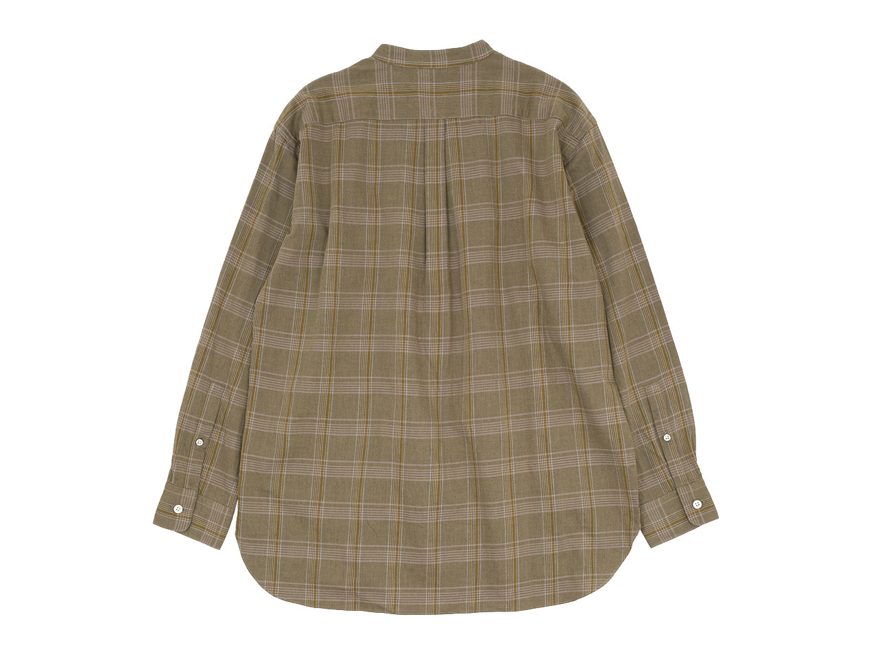 maillot mature twill check pull over stand shirts