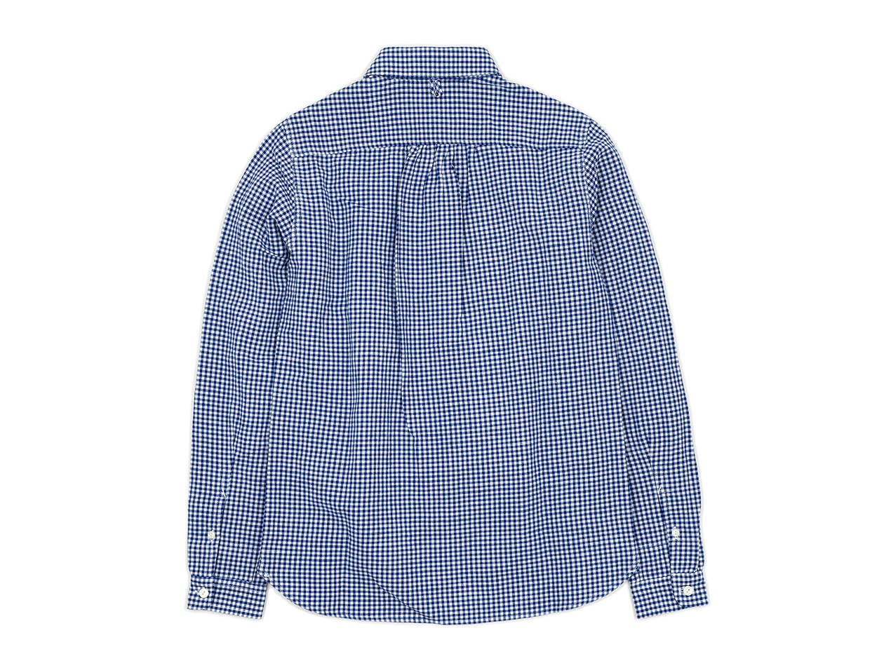 maillot Sunset round collor work gingam check shirts