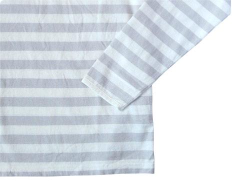 maillot ボーダー長袖Tシャツ