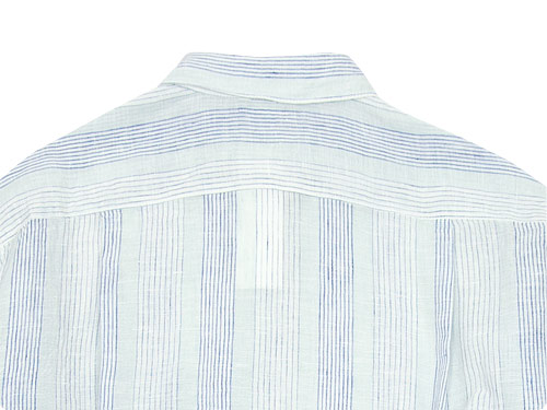 maillot check stripe linen regular shirts