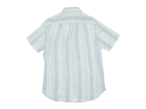 maillot check stripe linen work S/S shirts