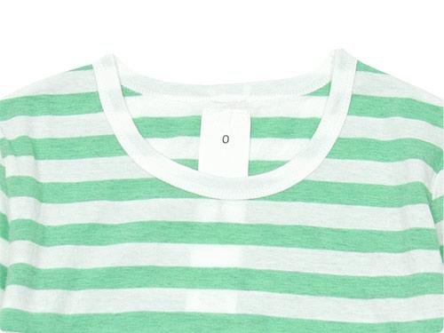 maillot ライトボーダー7分袖Tシャツ