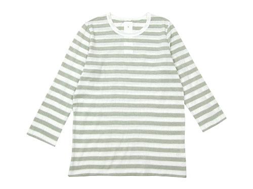 maillot ライトボーダー7分袖Tシャツ / ボーダー7分袖Tシャツ