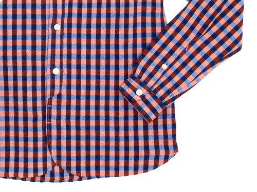 maillot sunset big gingham round work shirts
