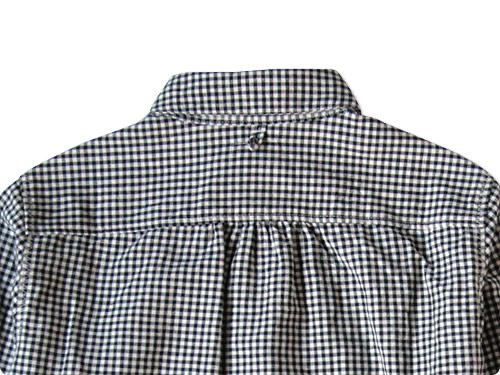 maillot Sunset round collor work gingam check shirts