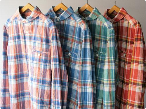 maillot madras round work shirts