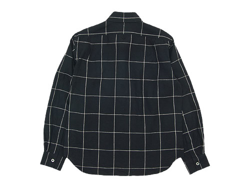 MARGARET HOWELL OVERSIZE CHECK LINEN SHIRTS