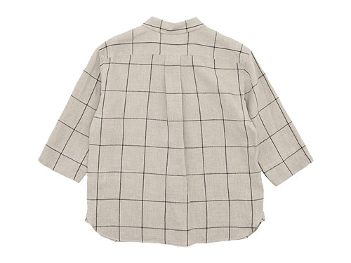 MARGARET HOWELL OVERSIZE CHECK LINEN P/O SHIRTS