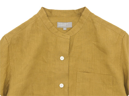 MARGARET HOWELL SHIRTING LINEN II NO COLLAR SHIRTS