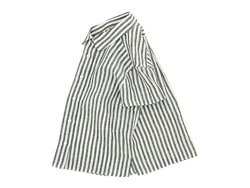 MARGARET HOWELL BLACK&WHITE SHIRTING LINEN S/S SHIRTS / SHIRTING LINEN S/S SHIRTS