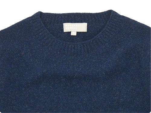 MARGARET HOWELL MERINO CASHMERE TWIST SADDLE CREW KNIT