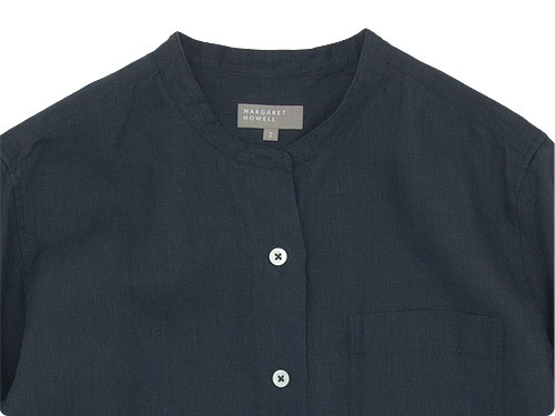 MARGARET HOWELL SHIRTING LINEN NO COLLAR SHIRTS