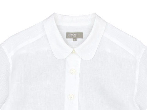 MARGARET HOWELL SHIRTING LINEN SUMMER PULL ON SHIRTS
