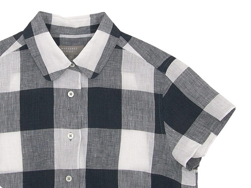 MARGARET HOWELL LARGE CHECK LINEN S/S SHIRTS