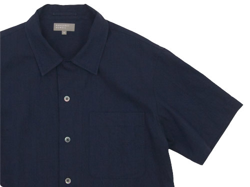 MARGARET HOWELL INDIGO COTTON LINEN OPEN SHIRTS