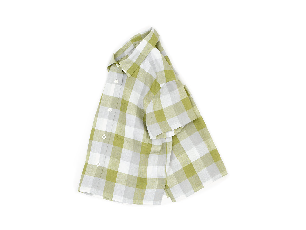 MARGARET HOWELL BLOCK CHECK LINEN S/S SHIRTS