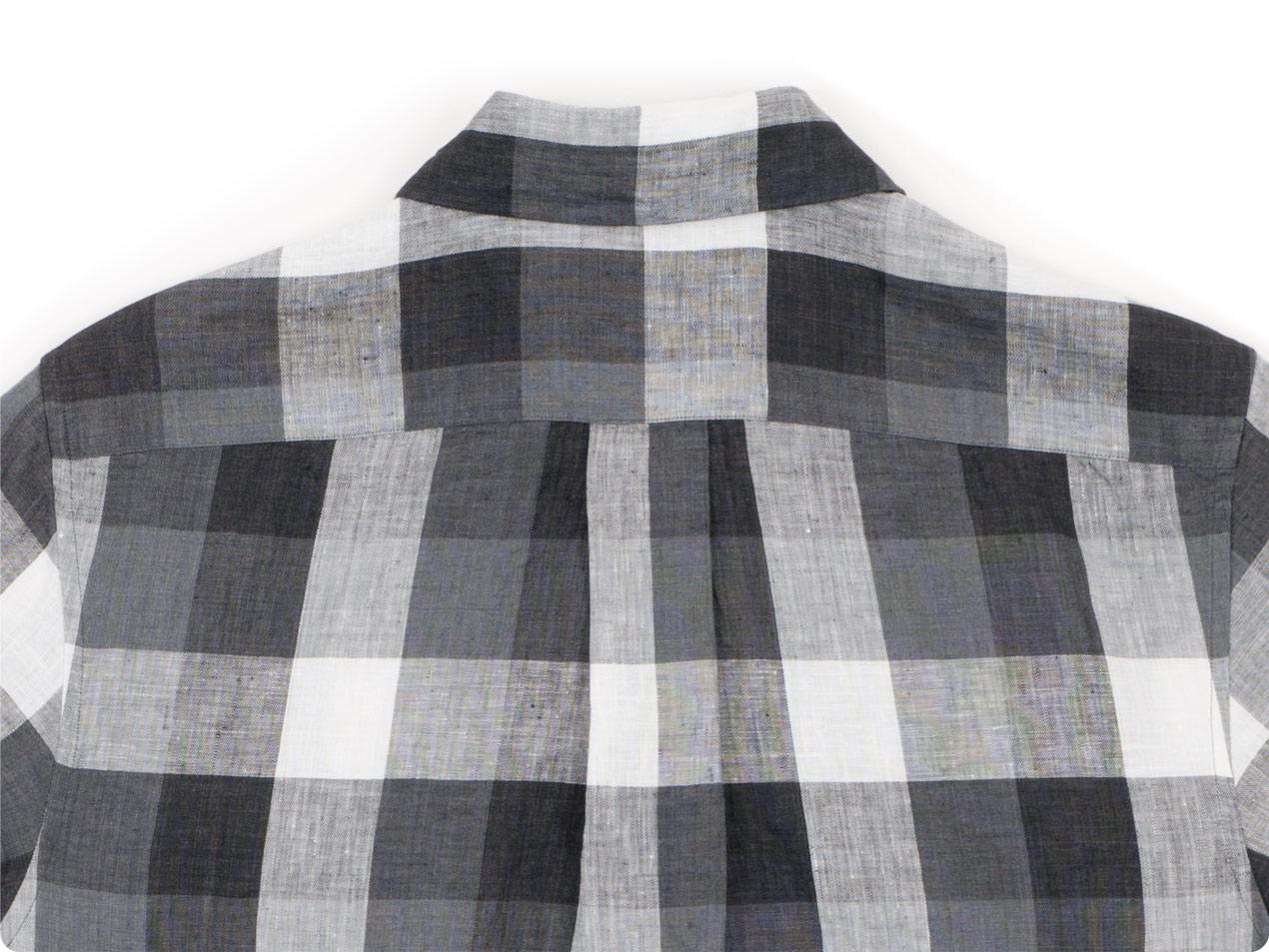 MARGARET HOWELL BLOCK CHECK LINEN S/S SHIRTS
