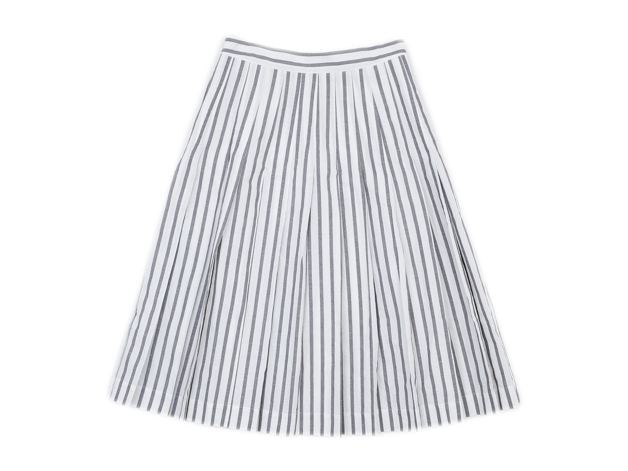 MARGARET HOWELL BOLD STRIPE COTTON LINEN SKIRT