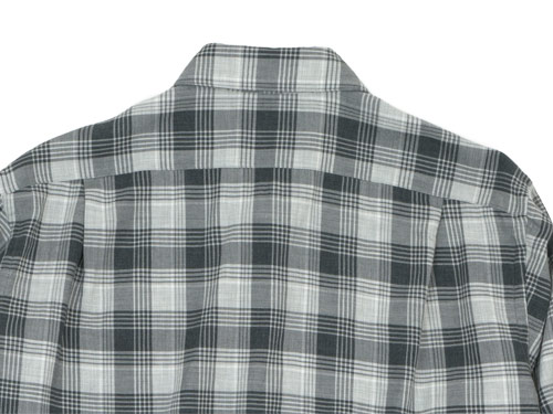 MARGARET HOWELL TARTAN COTTON CASHMERE MINIMAL SHIRTS