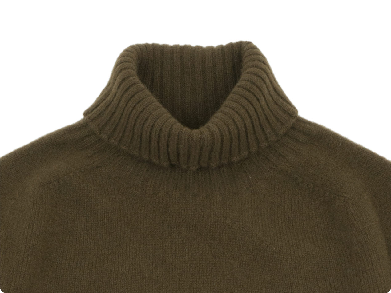MARGARET HOWELL MERINO CASHMERE ROLL NECK KNIT