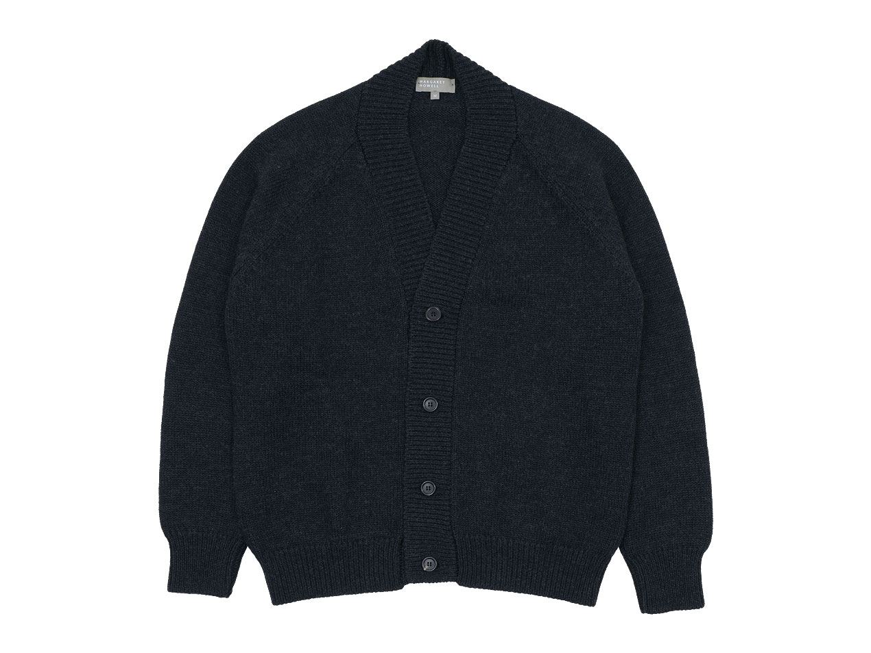 MARGARET HOWELL FINE MERINO WOOL KNIT CARDIGAN 〔メンズ〕