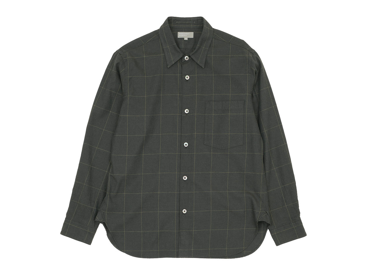 MARGARET HOWELL WINDOWPANE COTTON WOOL TWILL BASIC SHIRTS 〔メンズ〕