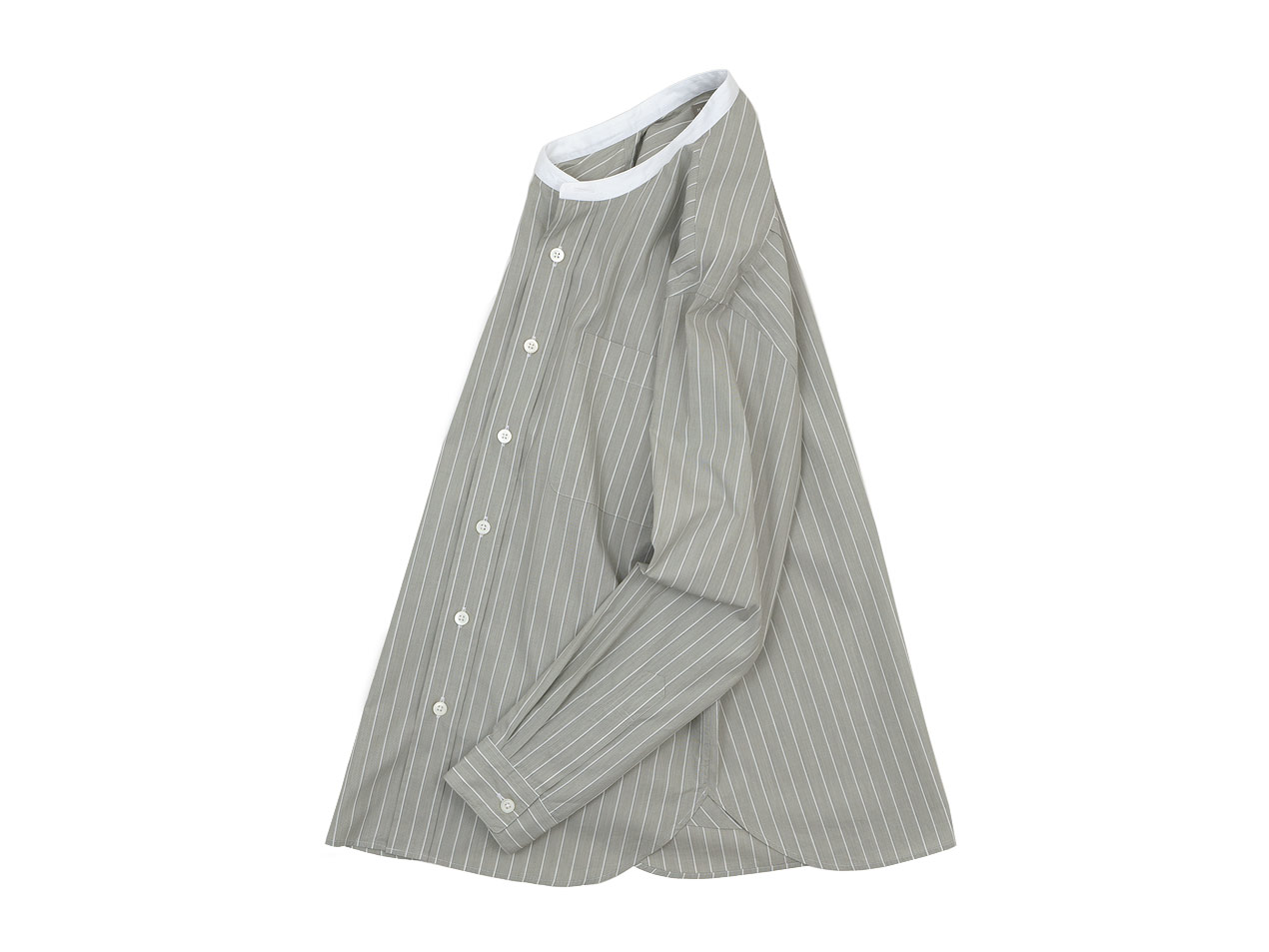 MARGARET HOWELL HAIRLINE STRIPE COTTON POPLIN SHIRTS 〔メンズ〕