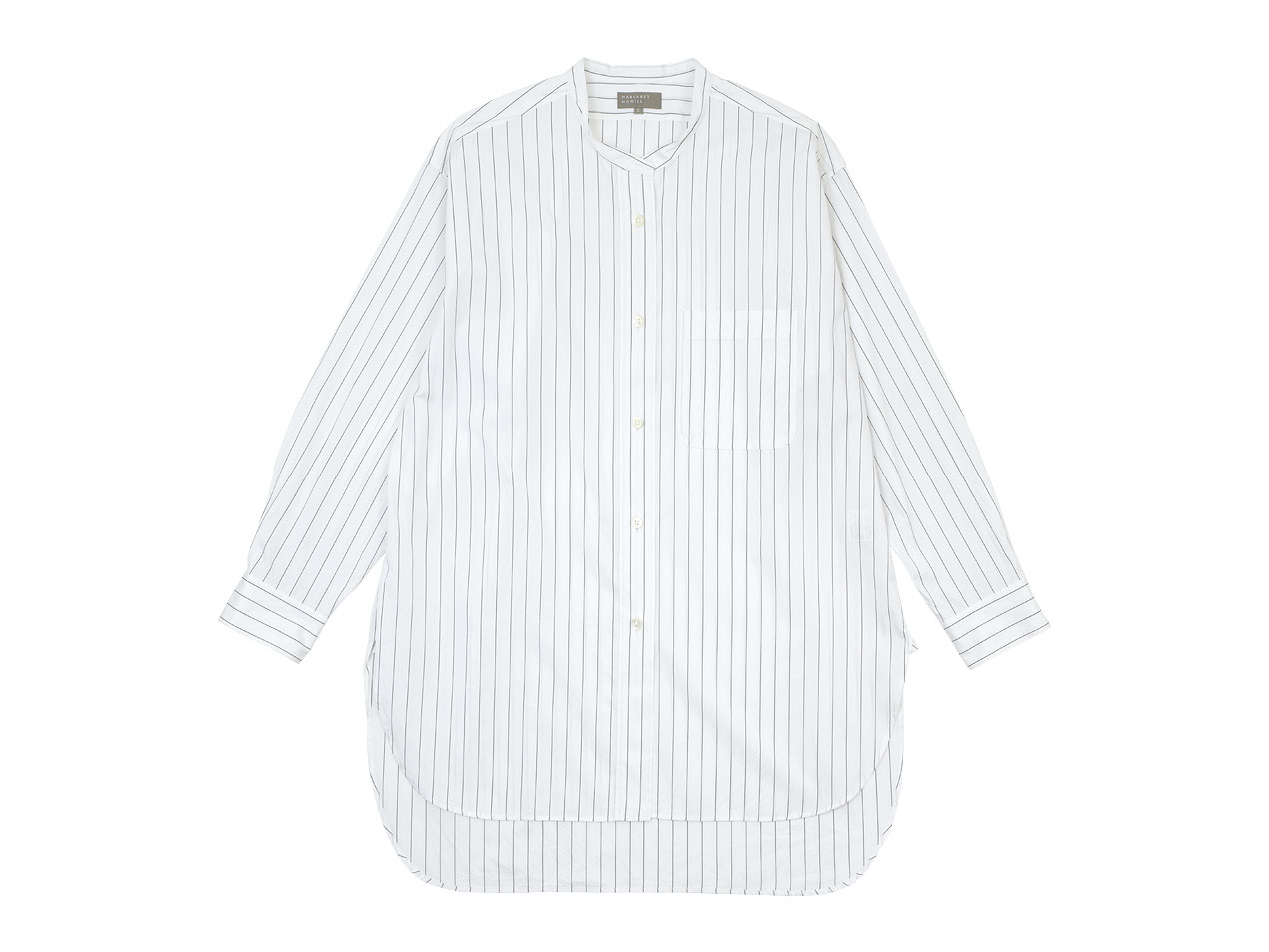 MARGARET HOWELL CLASSIC STRIPE COTTON LONG SHIRTS 〔レディース〕