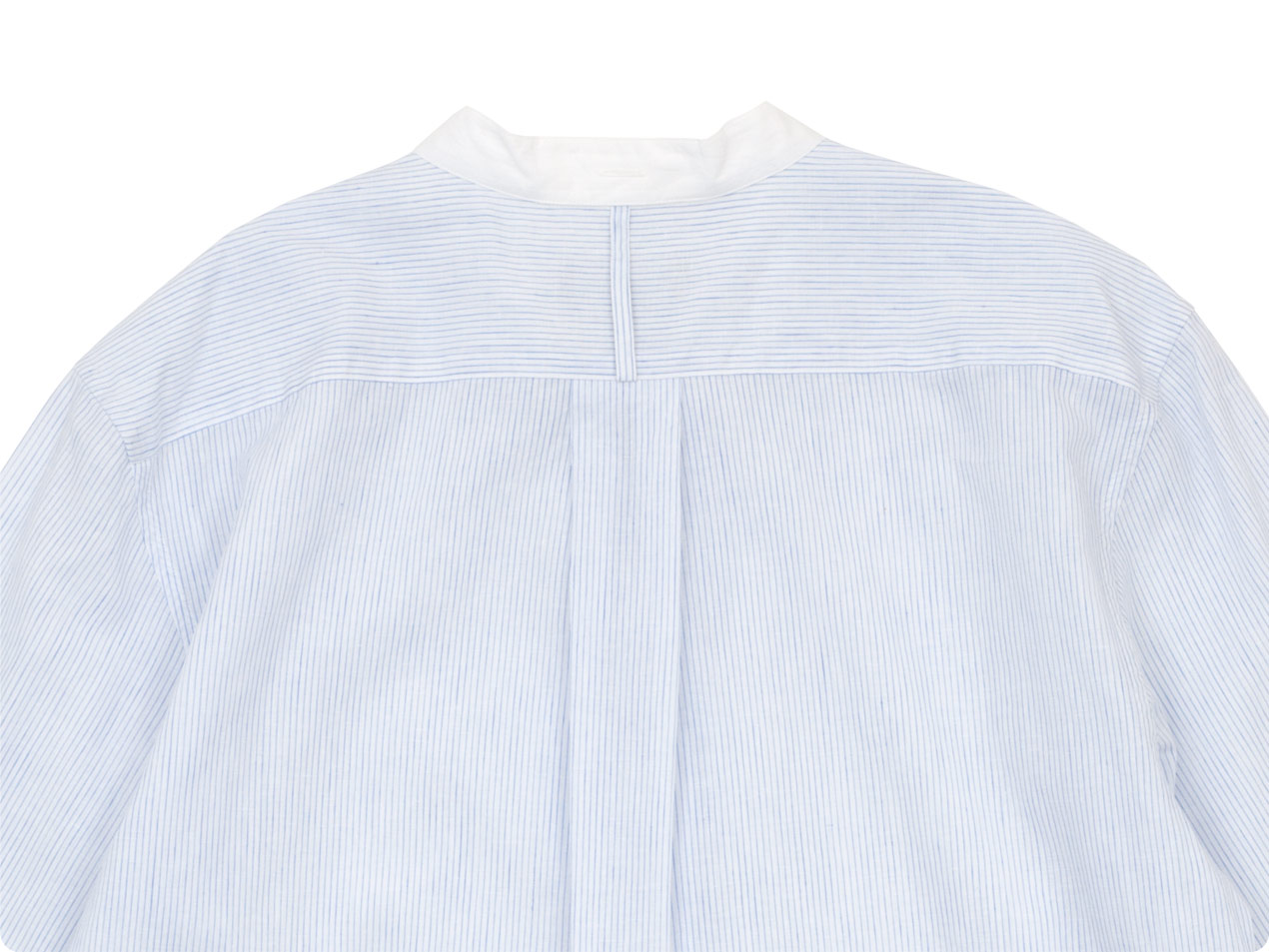MARGARET HOWELL FINE STRIPE COTTON LINEN P/O SHIRTS