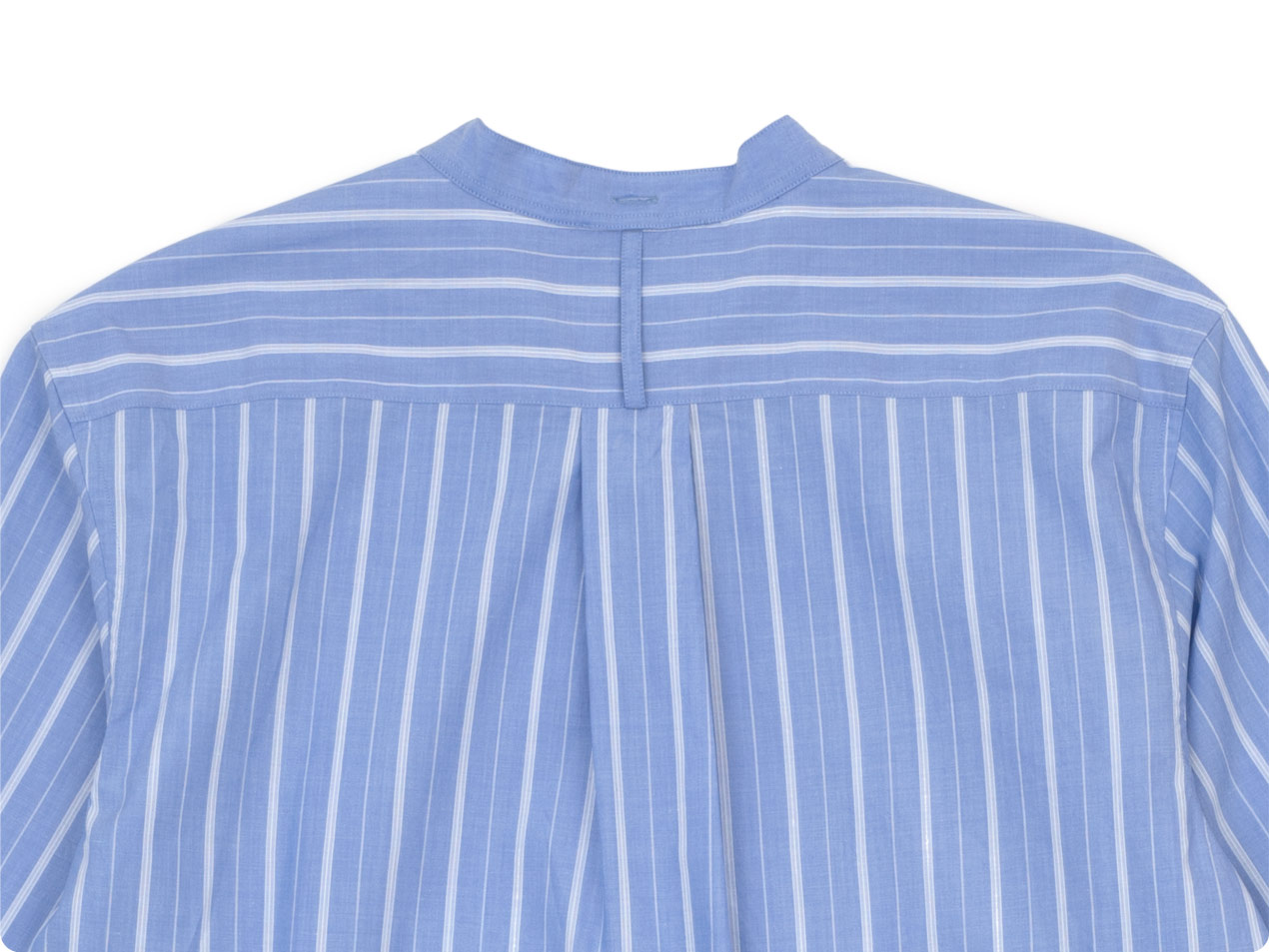 MARGARET HOWELL WIDE PJ STRIPE COTTON P/O SHIRTS