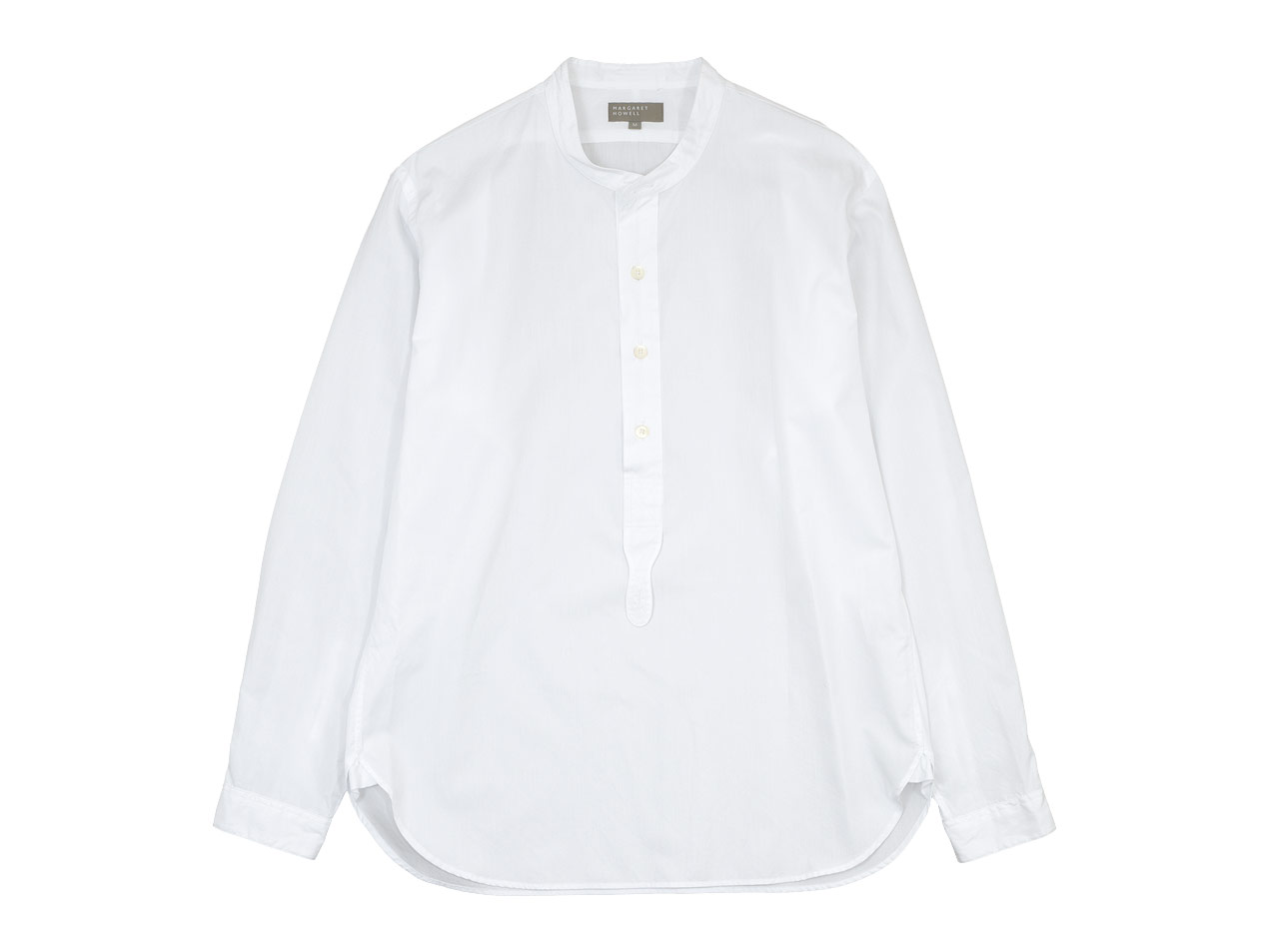 MARGARET HOWELL PLAIN COTTON POPLIN P/O SHIRTS