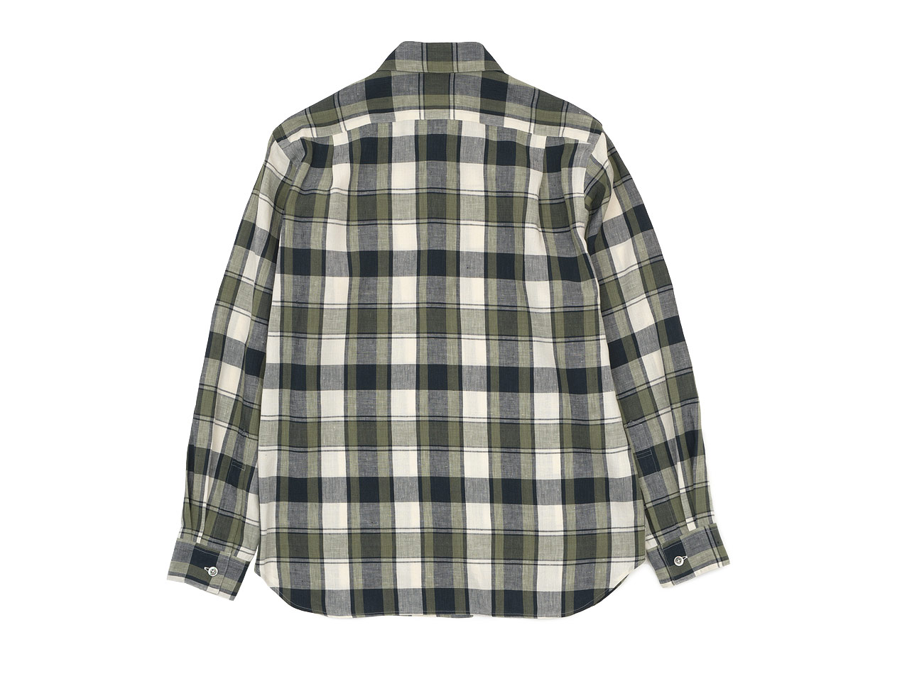 MARGARET HOWELL BOLD CHECK LINEN SHIRTS