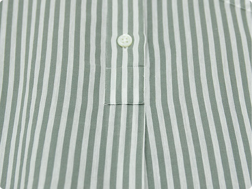 MARGARET HOWELL COTTON SILK BOLD STRIPE S/S ONE-PIECE