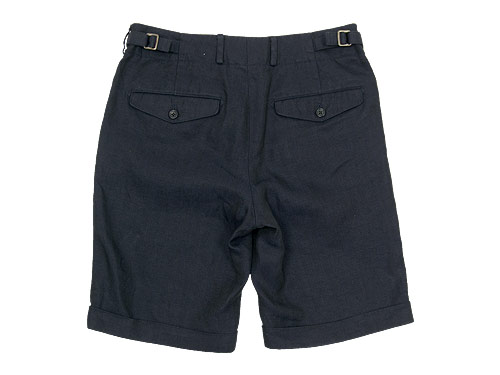MARGARET HOWELL HERRINGBONE LINEN SHORTS