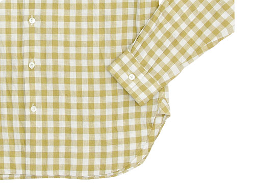 MARGARET HOWELL LINEN GINGHAM CHECK SHIRTS