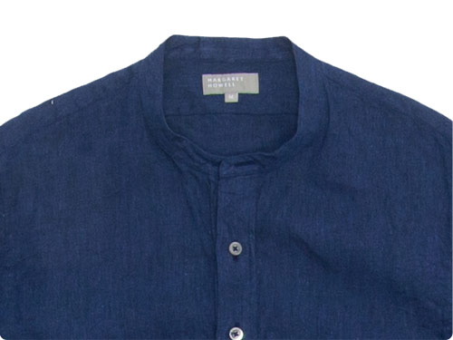 MARGARET HOWELL SOLID LINEN NO COLLAR P/O SHIRTS