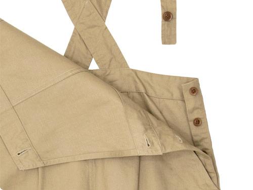 MHL. JAPANESE COTTON LINEN DRILL APRON DRESS