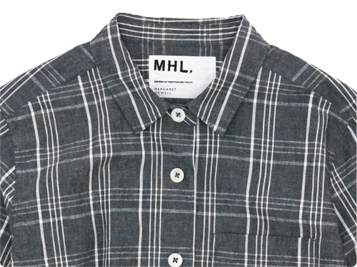MHL. ROUGH COTTON LINEN SHIRTING SHIRT