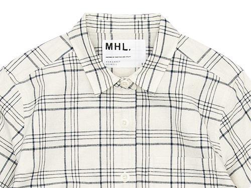 MHL. ROUGH COTTON LINEN SHIRTING SHIRT