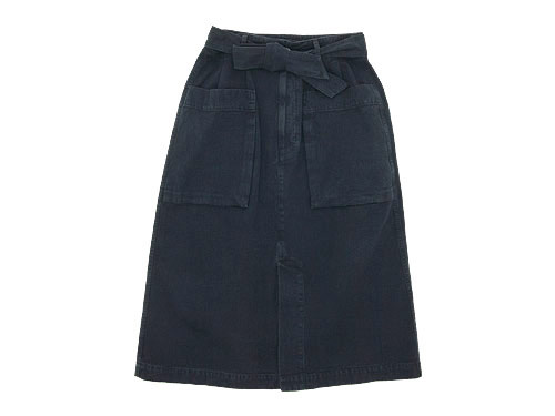 MHL. FADED COTTON TWILL SKIRT