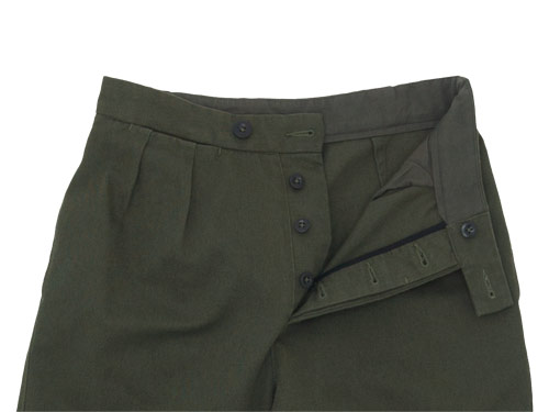 MHL. RAISED COTTON DRILL WIDE CROPPED PANTS