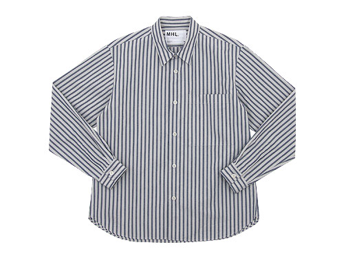 MHL. COTTON LINEN CHAMBRAY STRIPE SHIRTS / LOGO T / PRINT SCARF
