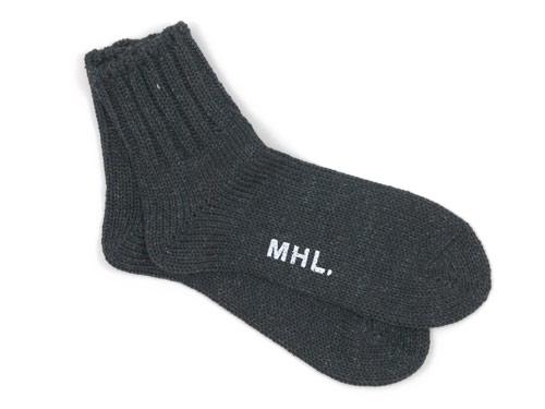 MHL. COTTON LINEN SHORT SOCKS 〔メンズ〕
