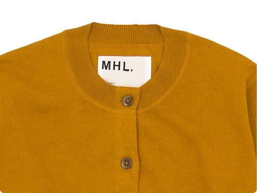 MHL. FINE SLUB COTTON LINEN CARDIGAN